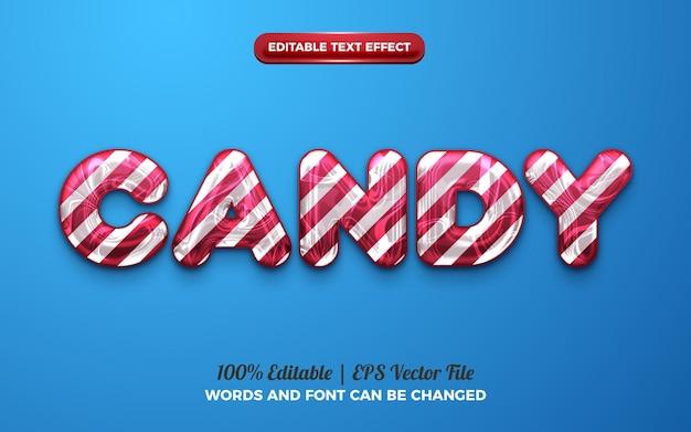 Effet de texte modifiable liquide en marbre 3d de bonbons