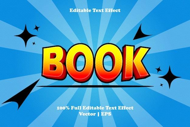 Effet de texte modifiable de livre