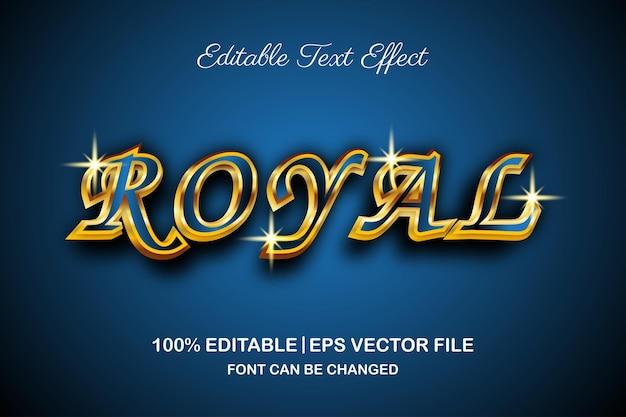 Effet de texte modifiable de luxe royal style 3d