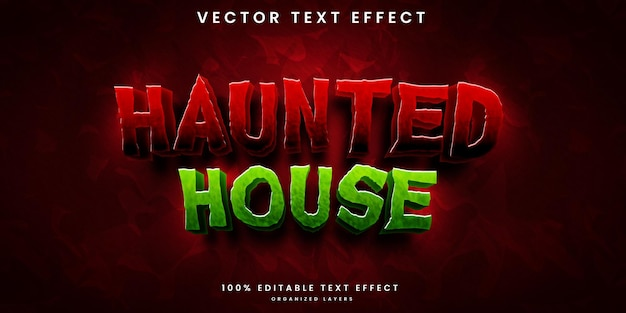 Effet de texte modifiable de la maison hantée