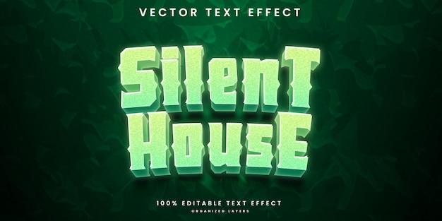 Effet de texte modifiable de la maison silencieuse