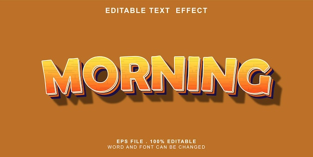 Effet de texte-modifiable-matin