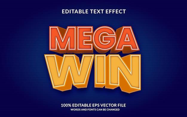 Effet de texte modifiable mega win