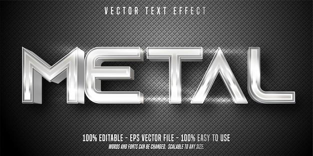 Effet de texte modifiable en métal