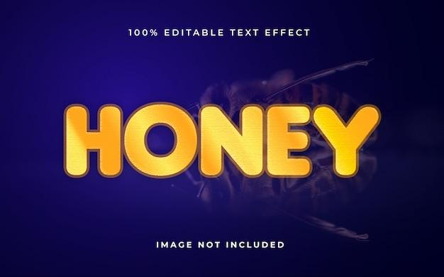 Effet de texte modifiable de miel.effet de texte créatif