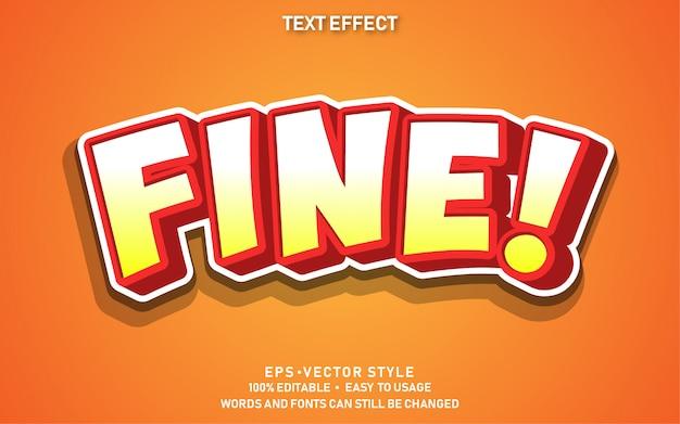 Effet de texte modifiable mignon rouge fin