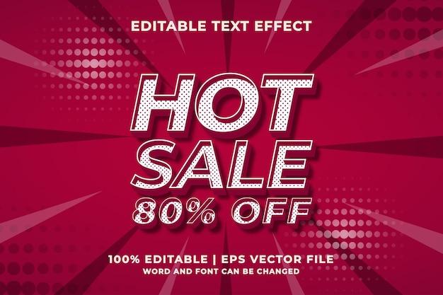 Effet de texte modifiable - modèle de style 3d hot sale. vecteur premium
