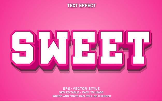Effet de texte modifiable modern sweet