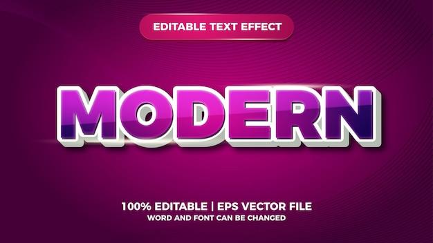 Effet de texte modifiable moderne