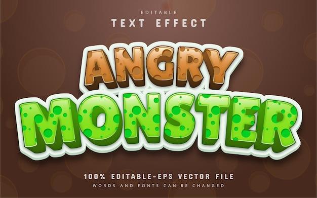 Effet de texte modifiable de monstre en colère