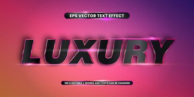 Effet de texte modifiable - mot de luxe
