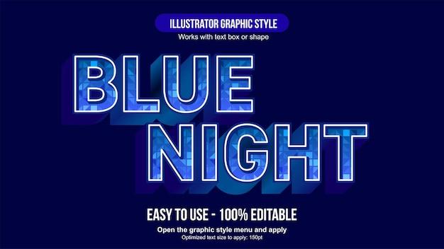 Effet de texte modifiable motif bleu 3d majuscule