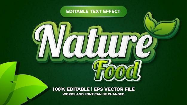 Effet de texte modifiable nature food