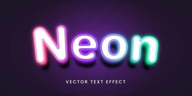 Effet de texte modifiable en néon