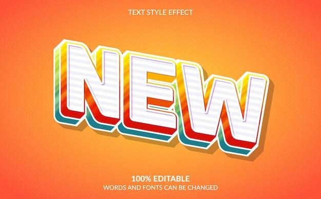 Effet de texte modifiable, nouveau style de texte coloré