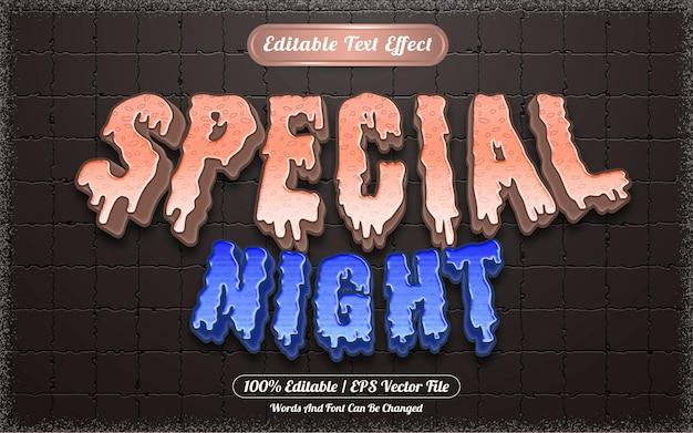 Effet de texte modifiable nuit spéciale thème halloween