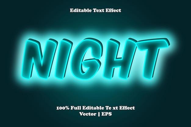 Effet de texte modifiable de nuit