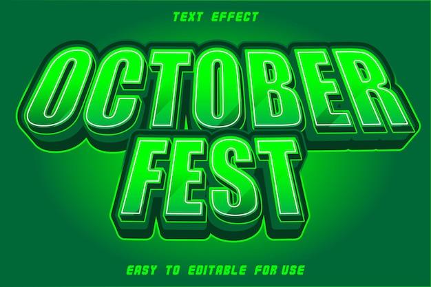 Effet de texte modifiable october fest zombie green