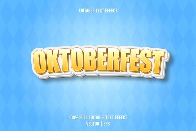Effet de texte modifiable oktoberfest
