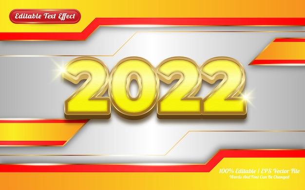 Effet de texte modifiable en or de luxe 2022