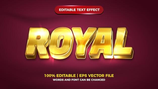 Effet de texte modifiable en or de luxe royal