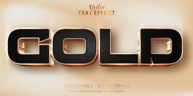 Effet de texte modifiable en or rose de luxe en or