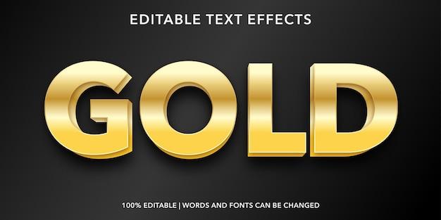 Effet de texte modifiable or