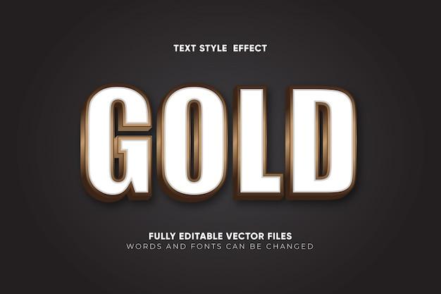 Effet de texte modifiable en or