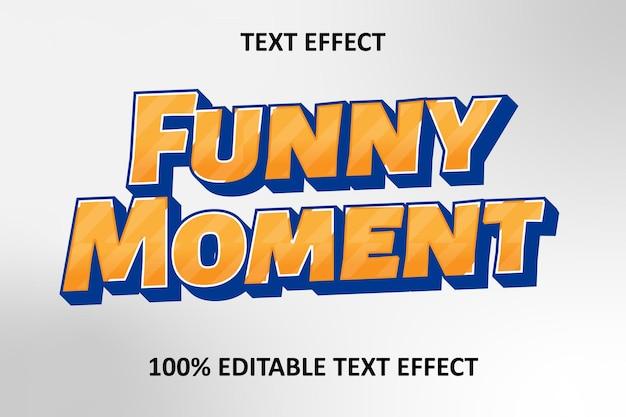 Effet de texte modifiable orange argent