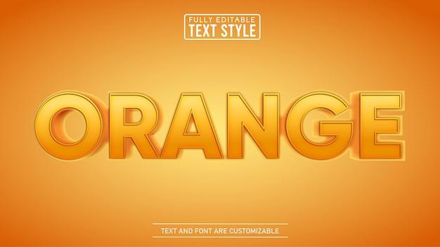 Effet de texte modifiable orange moderne en gras 3d