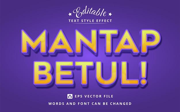 Effet de texte modifiable orange et violet clair