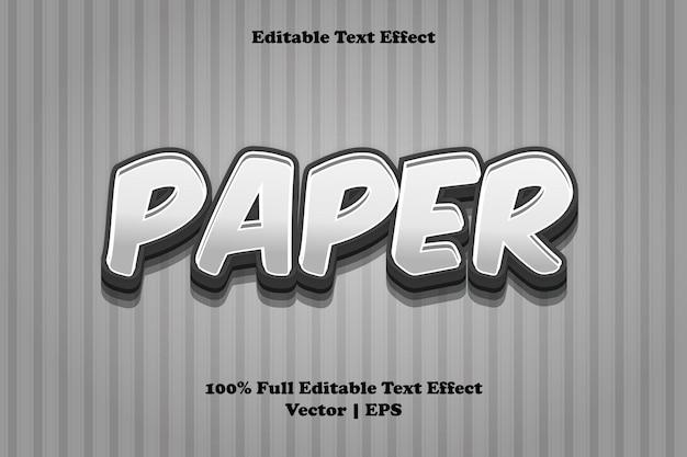 Effet de texte modifiable sur papier