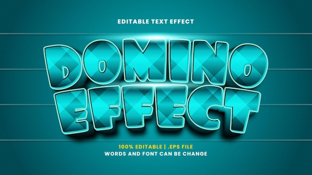 Effet de texte modifiable par effet domino dans un style 3d moderne