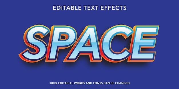 Effet de texte modifiable par l'espace