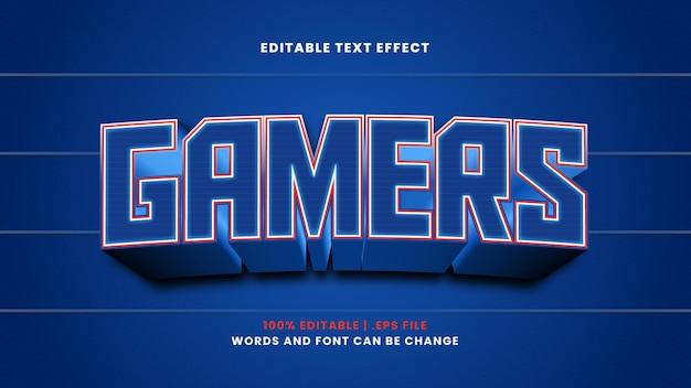 Effet de texte modifiable par les joueurs dans un style 3d moderne