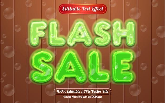 Effet de texte modifiable par vente flash sur le thème de la lumière et des bulles