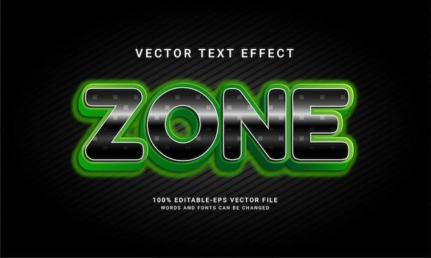 Effet de texte modifiable par zone