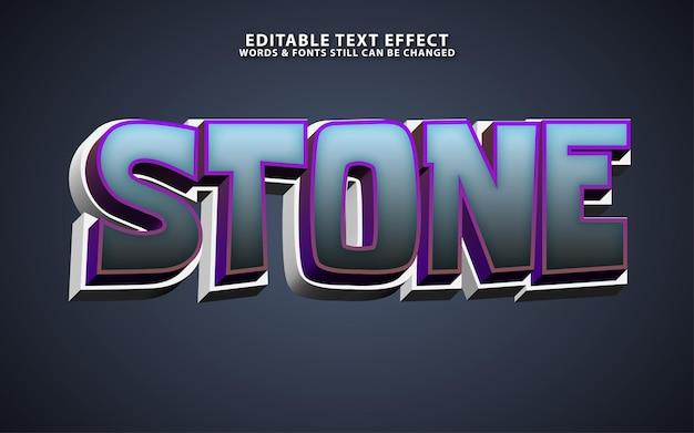 Effet de texte modifiable en pierre