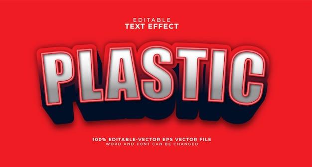 Effet de texte modifiable en plastique gras