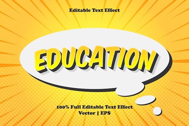 Effet de texte modifiable pour l'éducation