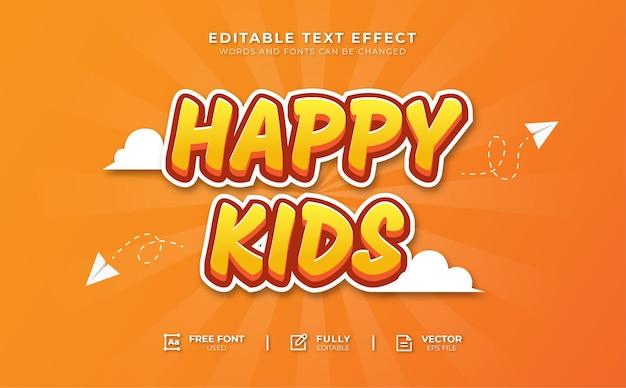 Effet de texte modifiable pour enfants heureux