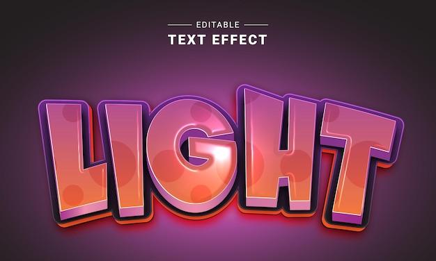 Effet de texte modifiable pour illustrateur