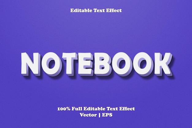 Effet de texte modifiable pour ordinateur portable