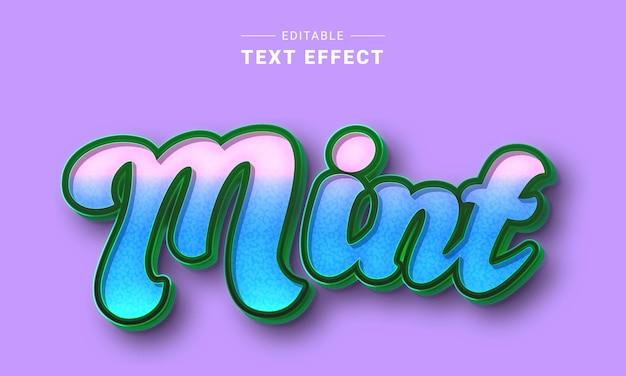 Effet de texte modifiable pour le style de texte de l'illustrateur leafs