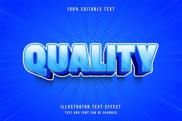 Effet de texte modifiable de qualité avec dégradé bleu