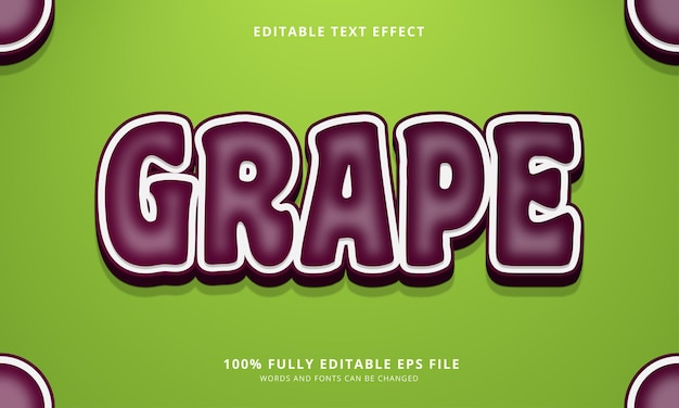 Effet de texte modifiable de raisin