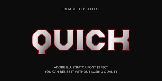 Effet de texte modifiable rapide