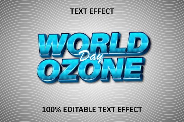 Effet de texte modifiable en relief fantaisie bleu argent