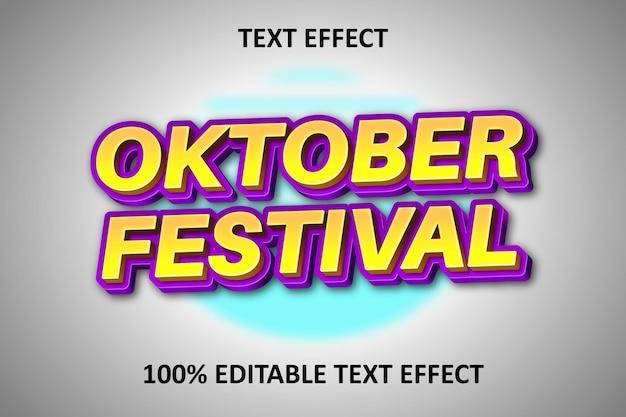 Effet de texte modifiable en relief jaune violet dos