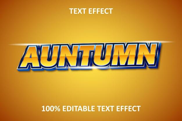 Effet de texte modifiable en relief orange bleu